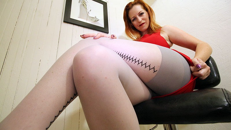 seamed striped hosiery